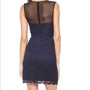 Diane Von Furstenberg Black/Anvy cocktail dress